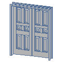 Archicad 11 Library object parts, doors, D2 Double...