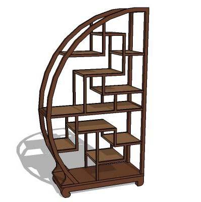 oriental display shelves 3D Model - FormFonts 3D Models ...