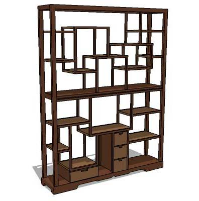 Oriental display shelves 3d model formfonts 3d models textures - House design new model shelves ...