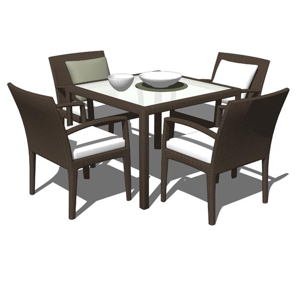 Panama Dining Sets 3d Model Formfonts 3d Models Amp Textures