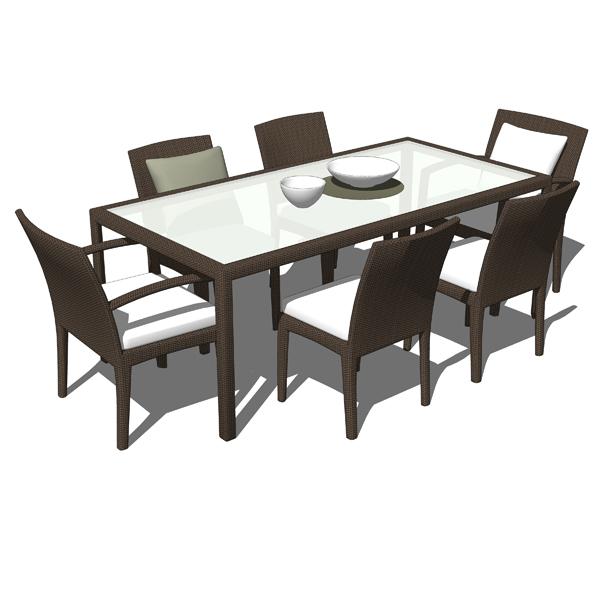 3d models of dedon furniture