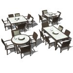 Dedon´s Panama synthetic wicker dining sets....
