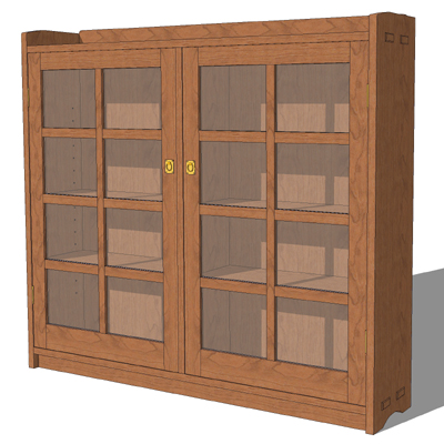 stickley bookcase 1 3d model formfonts 3d models textures. Black Bedroom Furniture Sets. Home Design Ideas