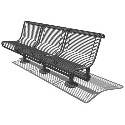 Models are based on the Creative Pipe Piazza Bench....
