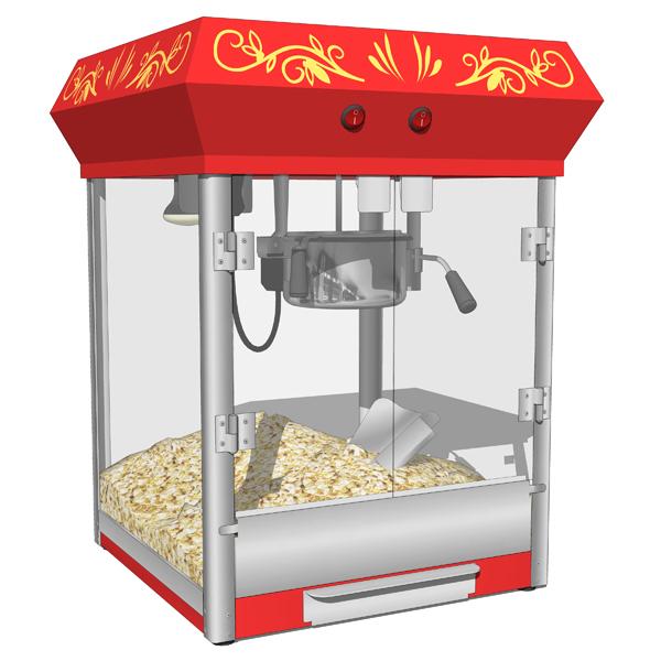 Popcorn machines 3D Model