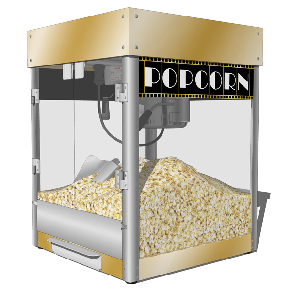 Popcorn machines 3D Model - FormFonts 3D Models & Textures