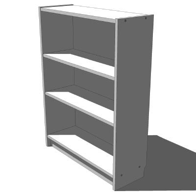 ikea billy 60x106 white 3d model formfonts 3d models textures. Black Bedroom Furniture Sets. Home Design Ideas