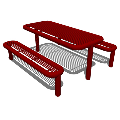 Creative Pipe Decatur Picnic Table D Model FormFonts D Models - Picnic table dwg