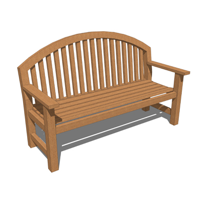 Smith Hawkens Giverny Bench 3d Model Formfonts 3d Models