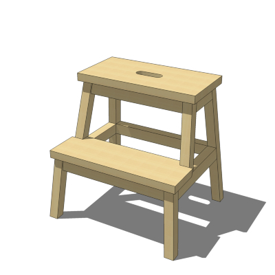 IKEA Bekvam Step Stool 3D Model - FormFonts 3D Models & Textures