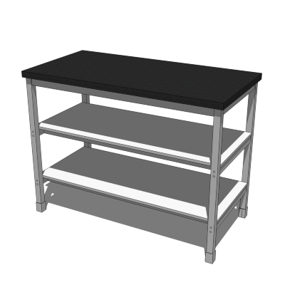 IKEA Utby Kitchen Island 3D Model
