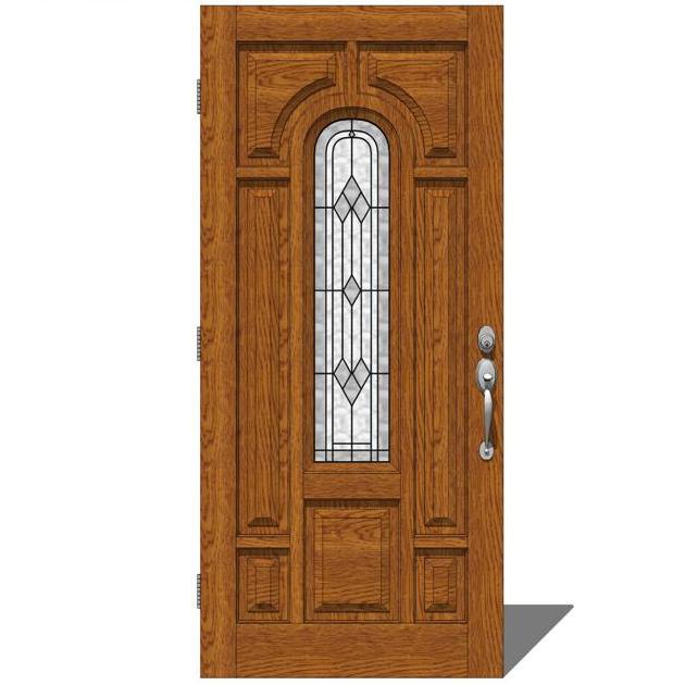 Therma Tru Entry Doors Provincial 1 3D Model - FormFonts 3D Models u0026 Textures
