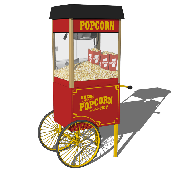 Popcorn machine carts 3D Model - FormFonts 3D Models & Textures