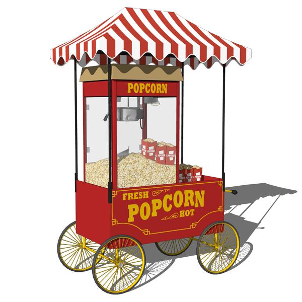 Popcorn Machine Carts 3d Model Formfonts 3d Models
