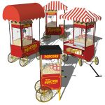 Popcorn machine carts in 4 different configuration...
