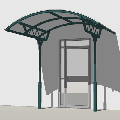 Apollo Entrance Canopy 3D Model - FormFonts 3D Models & Textures