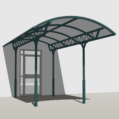 Apollo Entrance Canopy 3D Model : entrance canopy design - memphite.com