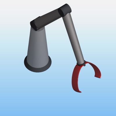 Parametric robotic arm object, for ArchiCAD. All m....