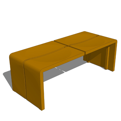Offered with 2 or 3 seats, the Crater bench is lig....