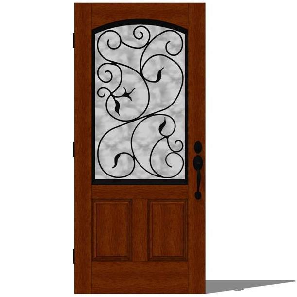 Therma tru augustine entry door set 1 3d model formfonts for Therma tru