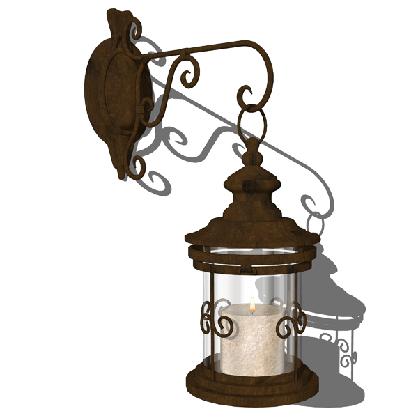 4 different types of wrought iron candle lanterns..