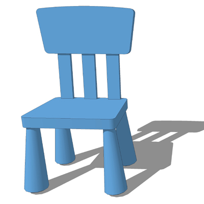 Ikea mammut tables chairs 3d model formfonts 3d models - Silla mammut ikea ...