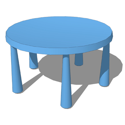 Ikea Mammut Tables Chairs 3d Model Formfonts 3d Models