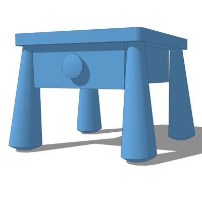 ikea mammut bedroom set 3d model formfonts 3d models textures. Black Bedroom Furniture Sets. Home Design Ideas