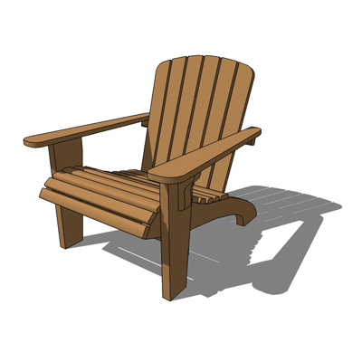 adirondack chair 3d model adirondack garden lounging chair - Garden Furniture 3d Model
