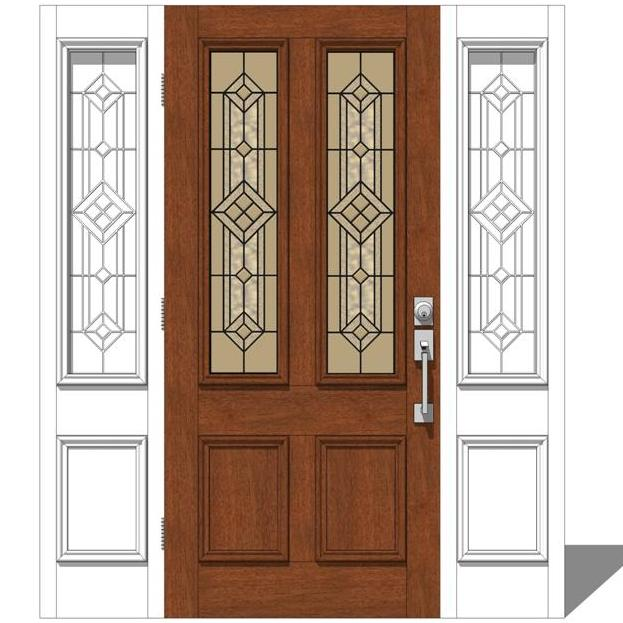 Jeld wen exterior door set 1 3d model formfonts 3d for Jeld wen front entry doors