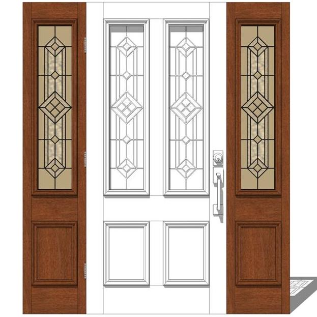 Jeld Wen Exterior Door Set 1 3D Model