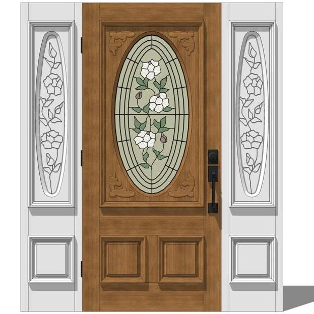 Jeld wen exterior door set 2 3d model formfonts 3d for Jeld wen exterior doors