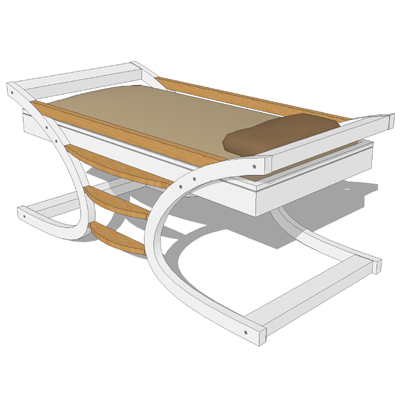 Mimondo Wave child's bed and bunk bed..