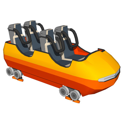 RollerCoaster Train 3D Model - FormFonts 3D Models & Textures