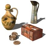Photoreal decorative items. Rustic and traditional...