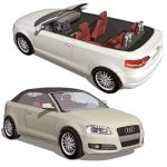 Audi A3 Cabriolet, with and without top.