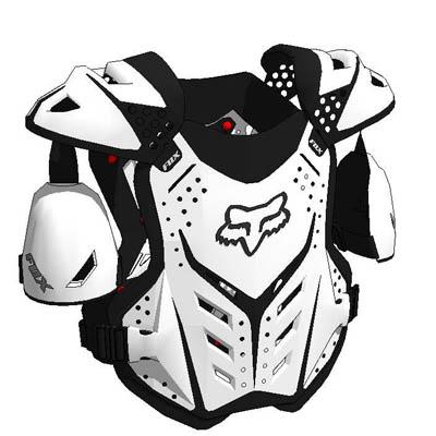 3D Polygonal Textured Model of Fox Racing Gear