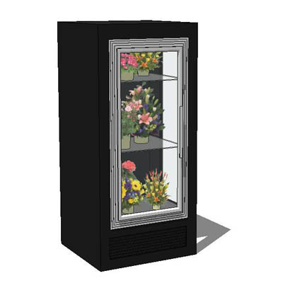 A range of floral coolers/ refrigeration units.