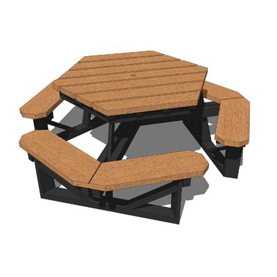 The Plastic Company Hex Picnic Table 3D Model - FormFonts 3D ...