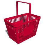 Model of a generic hand-held shopping basket for a...