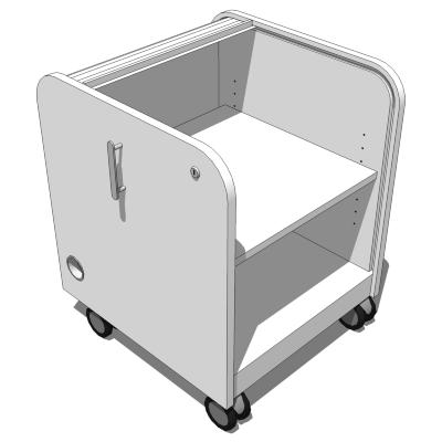 IKEA Aspvik Roll Front Cabinet 3D Model
