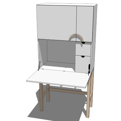 IKEA Cyril Computer Cabinet 3D Model