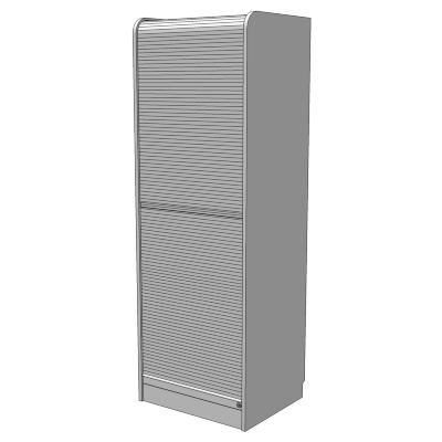 Ikea Aspvik Roll Front Computer Cabinet 3d Model