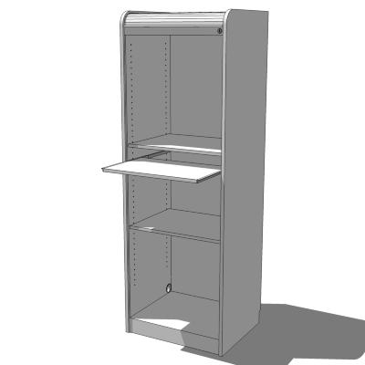 Ikea aspvik roll front computer cabinet 3d model for Ikea computer cabinet