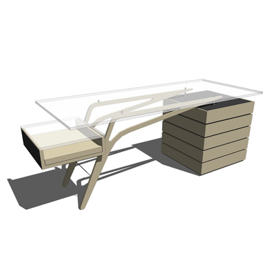 Designer Office Desks 3D Model - FormFonts 3D Models & Textures