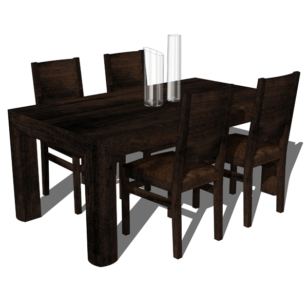 Etnochic dining room set d model formfonts models