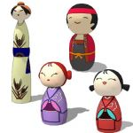 Kokeshi dolls set-02