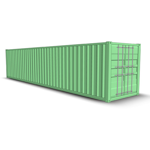 Set of four shipping containers..