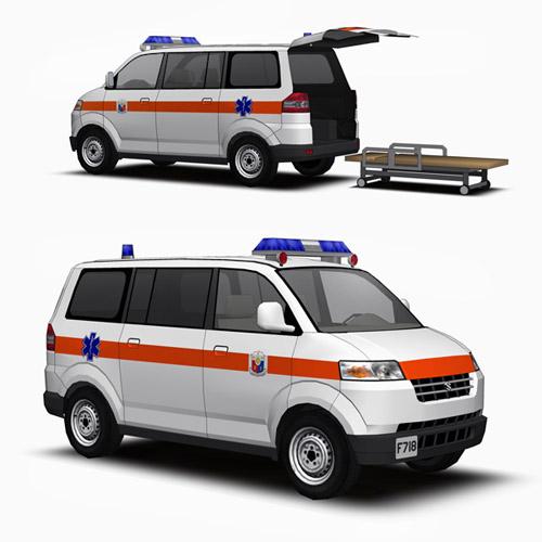 Suzuki Apv Ambulance 3d Model Formfonts 3d Models Amp Textures