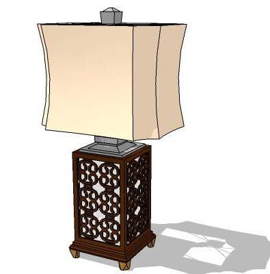 Oriental table lamp.